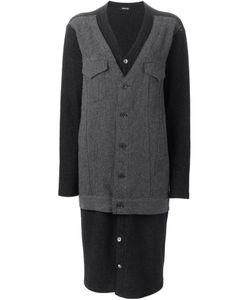Zucca | Удлиненное Пальто С Панельным Дизайном