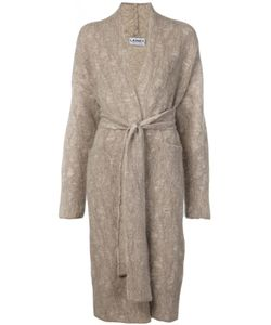 LAINEY KEOGH | Oatmeal Nude Stretch Cashmere Belted Long Cardi-Coat From