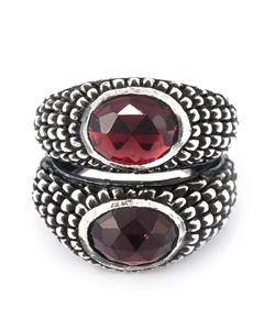 UGO CACCIATORI | Double Garnet Stone Ring From