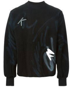 KLAR | Cotton Reversible Graffiti Print Sweater From