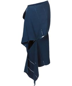 KLAR | Cobalt Cotton Wrap Skirt From