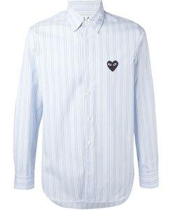 Comme Des Garcons | Полосатая Рубашка С Вышитым Сердцем