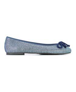 Pretty Ballerinas | Front-Bow Ballerinas 38 Leather/Polyester/Cotton/Rubber