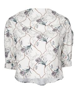 08SIRCUS | Cropped Print Blouse