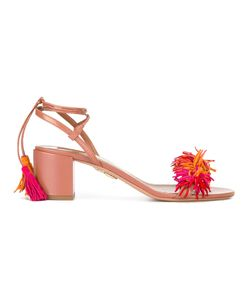 Aquazzura   Tassel Block Heel Sandals Size 39