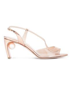 Nicholas Kirkwood | Curved Strap Pearl Sandals 35.5 Calf