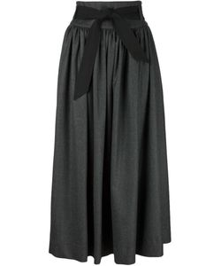 Martin Grant | Wool Long Flared Skirt From