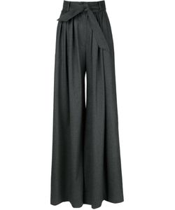 Martin Grant | Wool Belted Wide Leg Trousers From