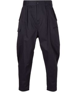 Undecorated Man | Navy Cotton Cargo Trousers From