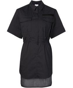 Koonhor | Платье-Рубашка С Сетчатым Подолом