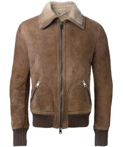 DACUTE | Desert Wool Blend And Shearling Bomber Jacket From