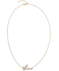 ROSA DE LA CRUZ | 18k And Diamond Love Necklace