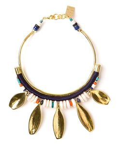 LIZZIE FORTUNATO JEWELS | -Toned Brass Petal Charm Collar Necklace From