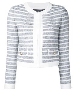 LOVELESS | Striped Cropped Jacket 34 Cotton/Acrylic/Polyester
