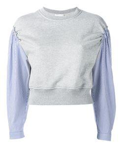 3.1 Phillip Lim | Pinstripe Sleeve Sweatshirt Size Medium