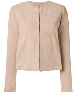 Drome | Collarless Jacket Medium Goat Suede