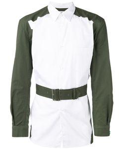 Comme Des Garcons | Comme Des Garçons Shirt Belted Contrast Shirt Size Large