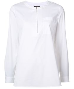 Lafayette 148   Zip Front Shirt Size Large