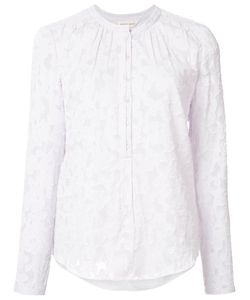 Rebecca Taylor | Collarless Lace Blouse 4 Silk/Cotton