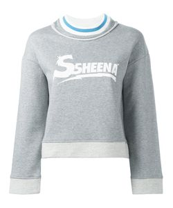 SSHEENA   Logo Print Sweatshirt Size Medium