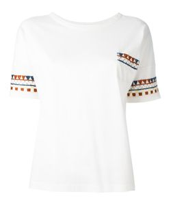 YMC | Patterned Trim T-Shirt Xs Cotton