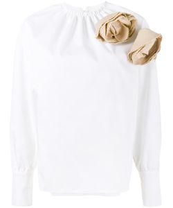 A.W.A.K.E.   Applique Blouse 38 Cotton/Polyester/Polyurethane