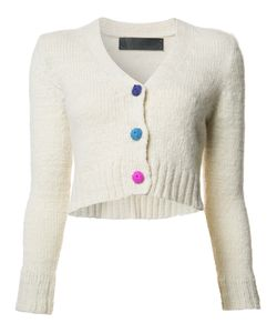 The Elder Statesman | V-Neck Cropped Cardigan Xs Cashmere
