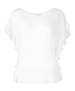 Iro | Ruffled T-Shirt Womens Size Medium Tencel/Polyurethane
