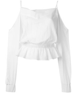 Balmain | Off-Shoulder Blouse 40 Cotton