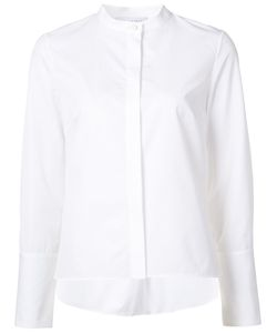 Nellie Partow | Concealed Button Mandarin Collar Shirt 6