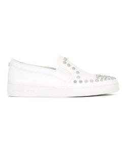 Michael Michael Kors | Studded Slip-On Sneakers 8 Cotton/Leather/Rubber/Metal