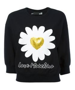 Love Moschino | Sequinned Heart Daisy Sweatshirt