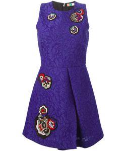 MSGM | Жаккардовое Платье С Вышивкой