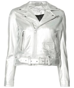 Iro | Cropped Biker Jacket 36 Polyester/Lamb Skin
