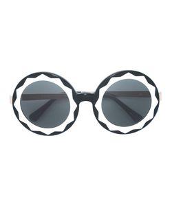 LINDA FARROW GALLERY | Круглые Крупные Солнцезащитные Очки
