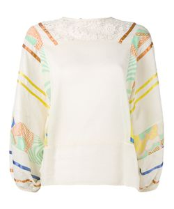 Semicouture   Printed Sleeves Blouse Size 40