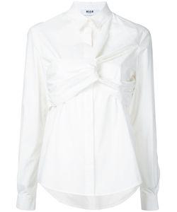 MSGM | Рубашка С Узлом Спереди