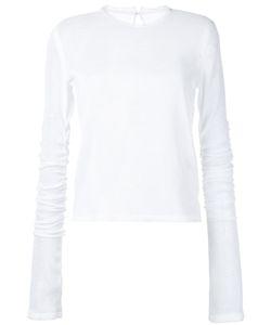 Irene | Oversized Sleeve Mesh Blouse Size