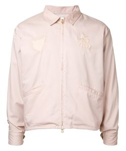 Monkey Time | Embroidered Bomber Jacket Size Small