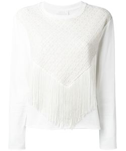 See By Chloe | See By Chloé Fringed-Front Sweater Size 40