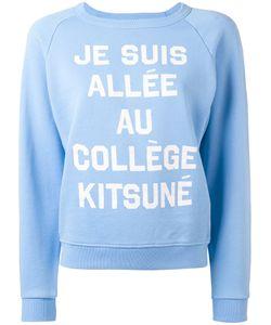 Maison Kitsune   Maison Kitsuné Slogan Sweatshirt Small Cotton