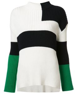 Stella Mccartney | Colour Block Pattern Jumper 40 Silk/Cotton/Virgin