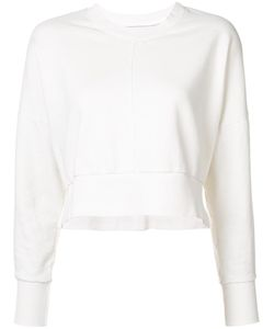 Daniel Patrick | V Neck Cropped Sweatshirt Small Cotton