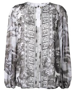 Versace Collection | Baroque Print Loose Blouse 42 Polyester