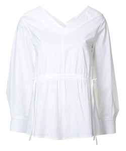 Derek Lam | Drawstring Waist Blouse 44 Cotton/Elastodiene