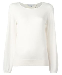 Elizabeth And James | Round Neck Jumper Small Cotton/Viscose/Cashmere