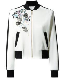 Elie Saab | Flowers Bomber Jacket 36 Polyester/Spandex/Elastane/Viscose/Silk
