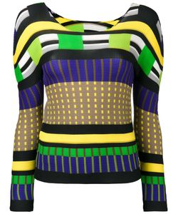 Issey Miyake Cauliflower | Colour Block Sweatshirt Polyester