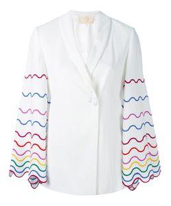 Sara Battaglia | Embroidered Sleeve Blazer