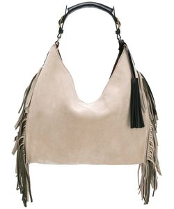 Santoni | Fringed Shoulder Bag Suede